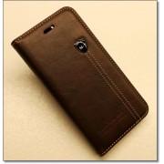 IPHONE 6 / 6S retro læder cover med kort lomme, mørkebrun Mobiltelefon tilbehør