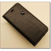 IPHONE 6 / 6S retro læder cover med kort lomme, sort Mobiltelefon tilbehør