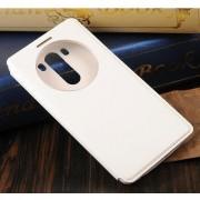LG G3 læder cover med vindue, hvid Mobiltelefon tilbehør
