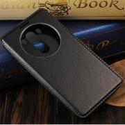 LG G3 læder cover med vindue, sort Mobiltelefon tilbehør