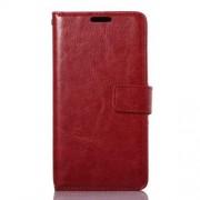 LG G3 S læder cover med kort lomme, rød Mobiltelefon tilbehør