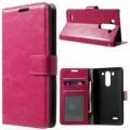 LG G3 S læder cover med lommer, rosa