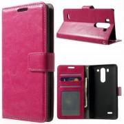 LG G3 S læder cover med lommer, rosa Mobiltelefon tilbehør