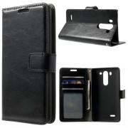 LG G3 S læder cover med lommer, sort Mobiltelefon tilbehør