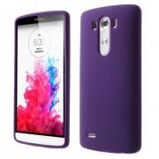 LG G3 silicone bag cover, lilla Mobiltelefon tilbehør