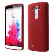LG G3 silicone bag cover, rød Mobiltelefon tilbehør