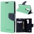 LG G4C læder cover med kort lommer, grøn