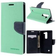 LG G4C læder cover med kort lommer, grøn Mobiltelefon tilbehør