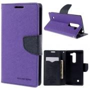 LG G4C læder cover med kort lommer, lilla Mobiltelefon tilbehør