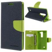 LG G4C læder cover med kort lommer, mørkeblå Mobiltelefon tilbehør