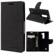 LG G4C læder cover med kort lommer, sort Mobiltelefon tilbehør