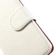 LG NEXUS 5 læder pung cover, hvid Mobiltelefon tilbehør