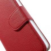 LG NEXUS 5 læder pung cover, rød Mobiltelefon tilbehør