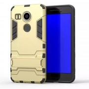 LG NEXUS 5X hybrid bag cover, guld Mobiltelefon tilbehør
