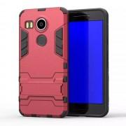 LG NEXUS 5X hybrid bag cover, vinrød Mobiltelefon tilbehør
