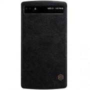 LG V10 læder cover med vindue, sort Mobiltelefon tilbehør
