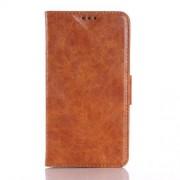 MICROSOFT LUMIA 640 XL læder cover med kort lommer, brun Mobiltelefon tilbehør
