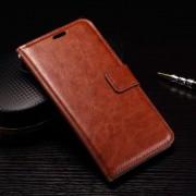 MICROSOFT LUMIA 950 læder cover med kort lommer, brun Mobiltelefon tilbehør