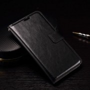 MICROSOFT LUMIA 950 læder cover med kort lommer, sort Mobiltelefon tilbehør
