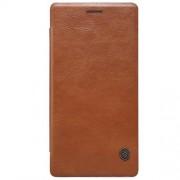 ONEPLUS 2 læder cover i business stil, brun Mobiltelefon tilbehør