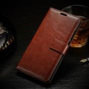 ONEPLUS 2 læder cover med kort lomme, brun Mobiltelefon tilbehør