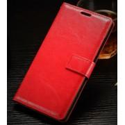 ONEPLUS 2 læder cover med kort lomme, rød Mobiltelefon tilbehør