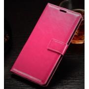 ONEPLUS 2 læder cover med kort lomme, rosa Mobiltelefon tilbehør