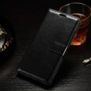ONEPLUS 2 læder cover med kort lomme, sort Mobiltelefon tilbehør