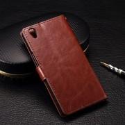 ONEPLUS X læder cover med kort lommer, brun Mobiltelefon tilbehør
