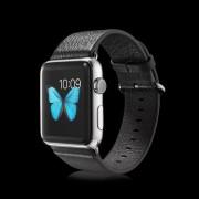 Til APPLE WATCH 38 MM urrem af Italiensk læder, sort Smartwatch tilbehør