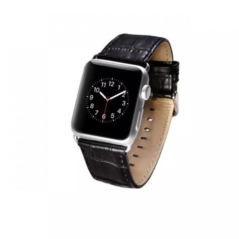 b959e6951fe APPLE WATCH 42 MM blød læder urrem med montage beslag, sort Smartwatch  tilbehør ...