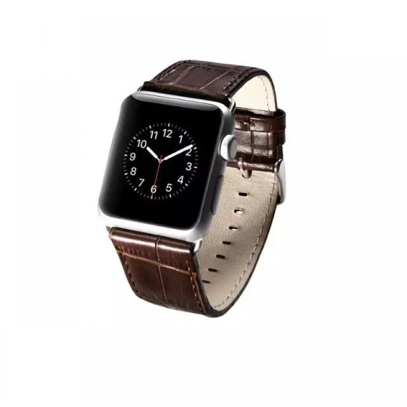 3458b81a38b APPLE WATCH 42 MM blød læder urrem med montage beslag, brun Smartwatch  tilbehør ...
