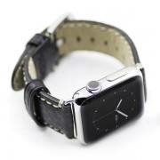 APPLE WATCH 38 MM Kajsa vintage læder urrem, sort Smartwatch tilbehør