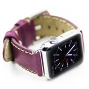 APPLE WATCH 38 MM Kajsa vintage læder urrem, lilla Smartwatch tilbehør