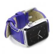 APPLE WATCH 38 MM Kajsa vintage læder urrem, blå Smartwatch tilbehør