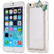 IPHONE 6 / 6S transparent bag cover med diamant mønster Mobiltelefon tilbehør