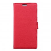SONY XPERIA Z5  læder pung cover, rød Mobiltelefon tilbehør