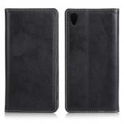 SONY XPERIA Z5  læder cover med kort holder, sort Mobiltelefon tilbehør
