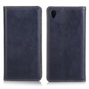 SONY XPERIA Z5  læder cover med kort holder, mørkeblå Mobiltelefon tilbehør