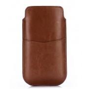 Læder taske/etui med kort holder Mobiltelefon tilbehør