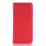 HTC ONE M9 læder cover, rød Mobiltelefon tilbehør