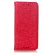 HTC ONE M8 læder cover, rød Mobiltelefon tilbehør