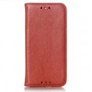 HTC ONE M8 læder cover, brun Mobiltelefon tilbehør