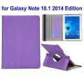 SAMSUNG GALAXY NOTE 10.1 2014 Edition læder cover med kort holder lilla