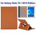 SAMSUNG GALAXY NOTE 10.1 2014 Edition læder cover med kort holder brun
