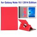 SAMSUNG GALAXY NOTE 10.1 2014 Edition læder cover med kort holder rød