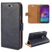 SAMSUNG GALAXY NOTE 4 læder cover med kort holder blå Mobiltelefon tilbehør