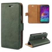 SAMSUNG GALAXY NOTE 4 læder cover med kort holder grøn Mobiltelefon tilbehør