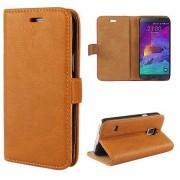SAMSUNG GALAXY NOTE 4 læder cover med kort holder brun Mobiltelefon tilbehør