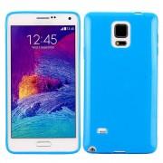 SAMSUNG GALAXY NOTE 4 bag cover blå Mobiltelefon tilbehør